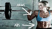 the ultimate no equipment abs and arm workout