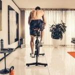 Man spinning on bike