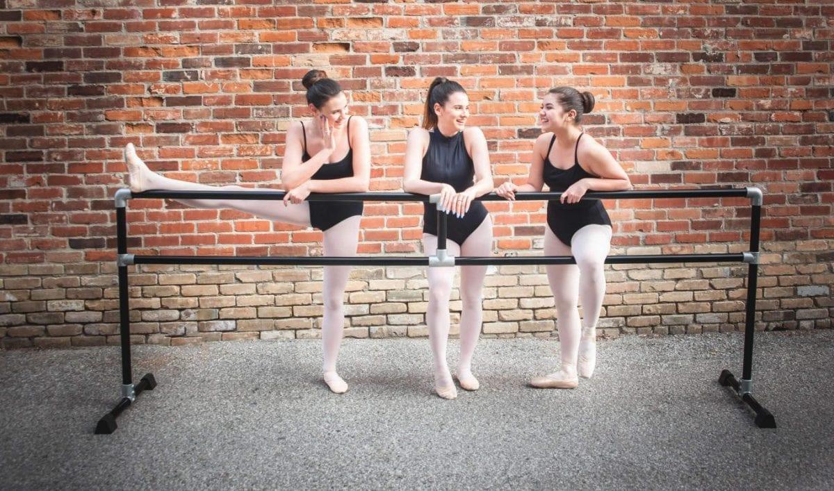 Women at ballet barre