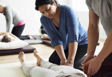 people working to become massage therapists