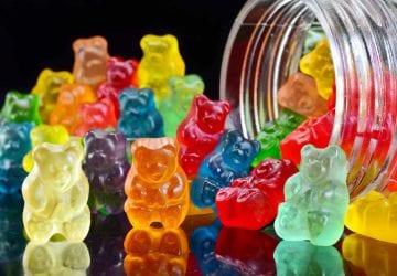 a jar of colourful gummies