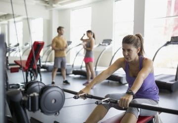people exercising in their condo gym
