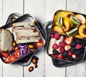 healthy lunches on a table