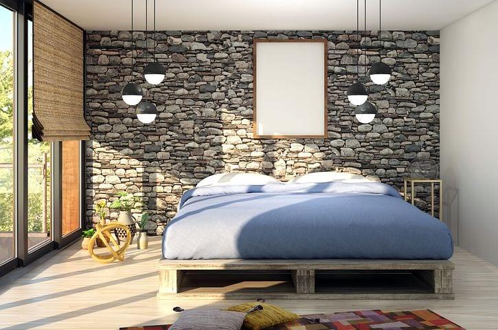 mattress in a beautiful bedroom