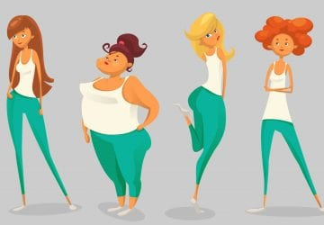 cartoon showing different body shapes