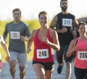people running in a race
