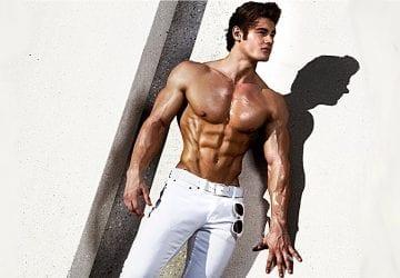 muscular man outdoors without a shirt