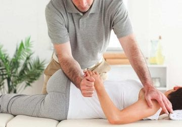 woman receiving a chiropractic adjustment