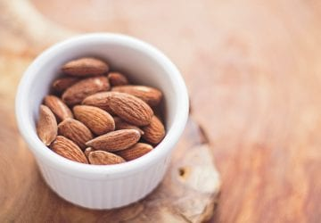 a healthy bowl of almonds