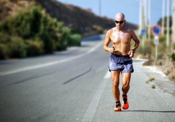 older man going for a run