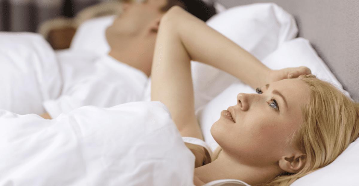 woman unable to sleep
