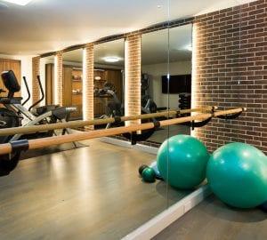 mirror at a gym