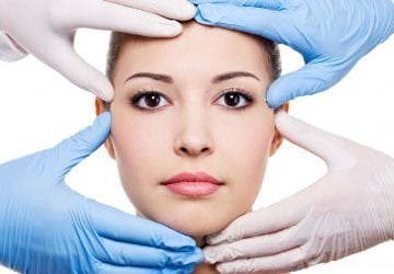 woman getting plastic surgery