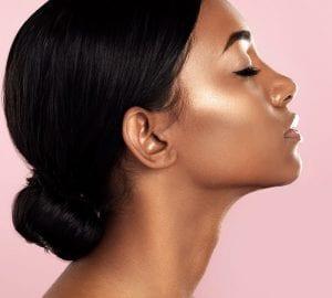 woman wth glowing skin