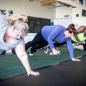 beginner level women working out
