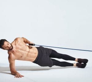 man doing a plank exercise