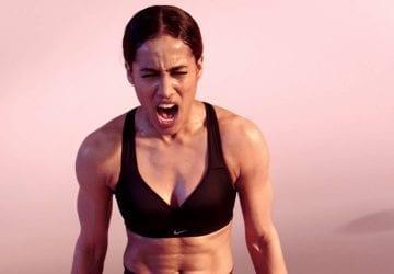 woman in a sports bra