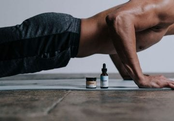 athlete using CBD