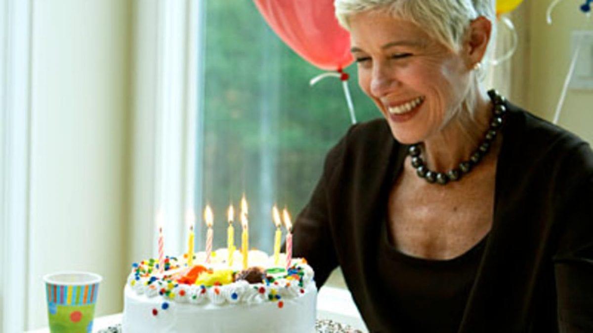 older woman getting older