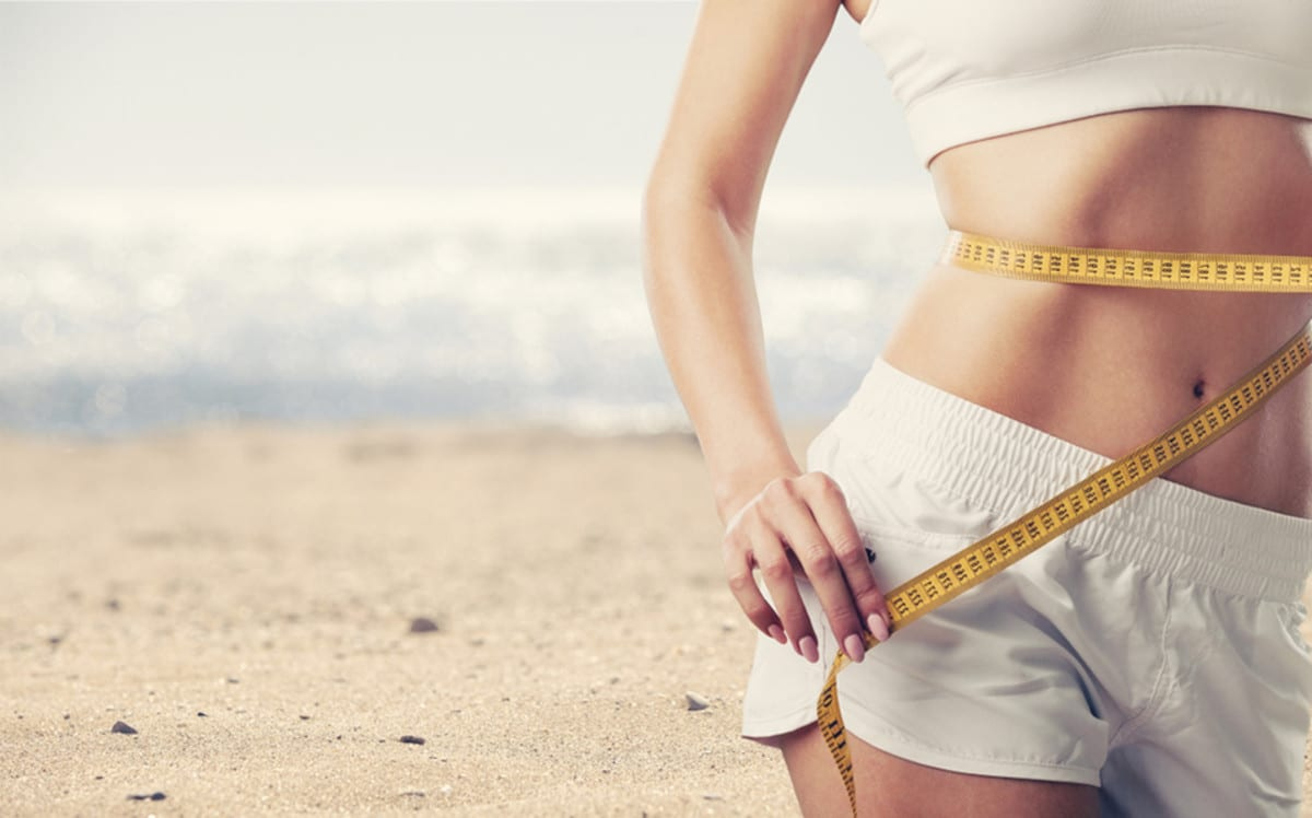 weight loss on a beach