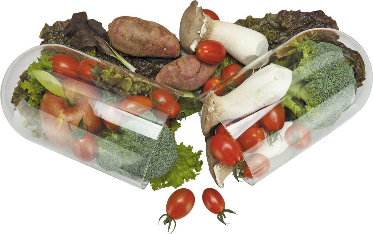 vegetables in caps