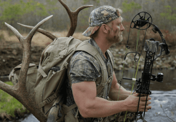 fit man going hunting