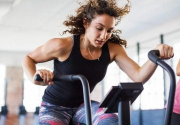 female on a elliptical machine