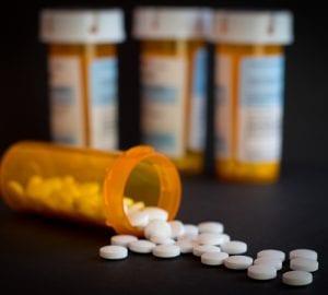 pill bottles spilling