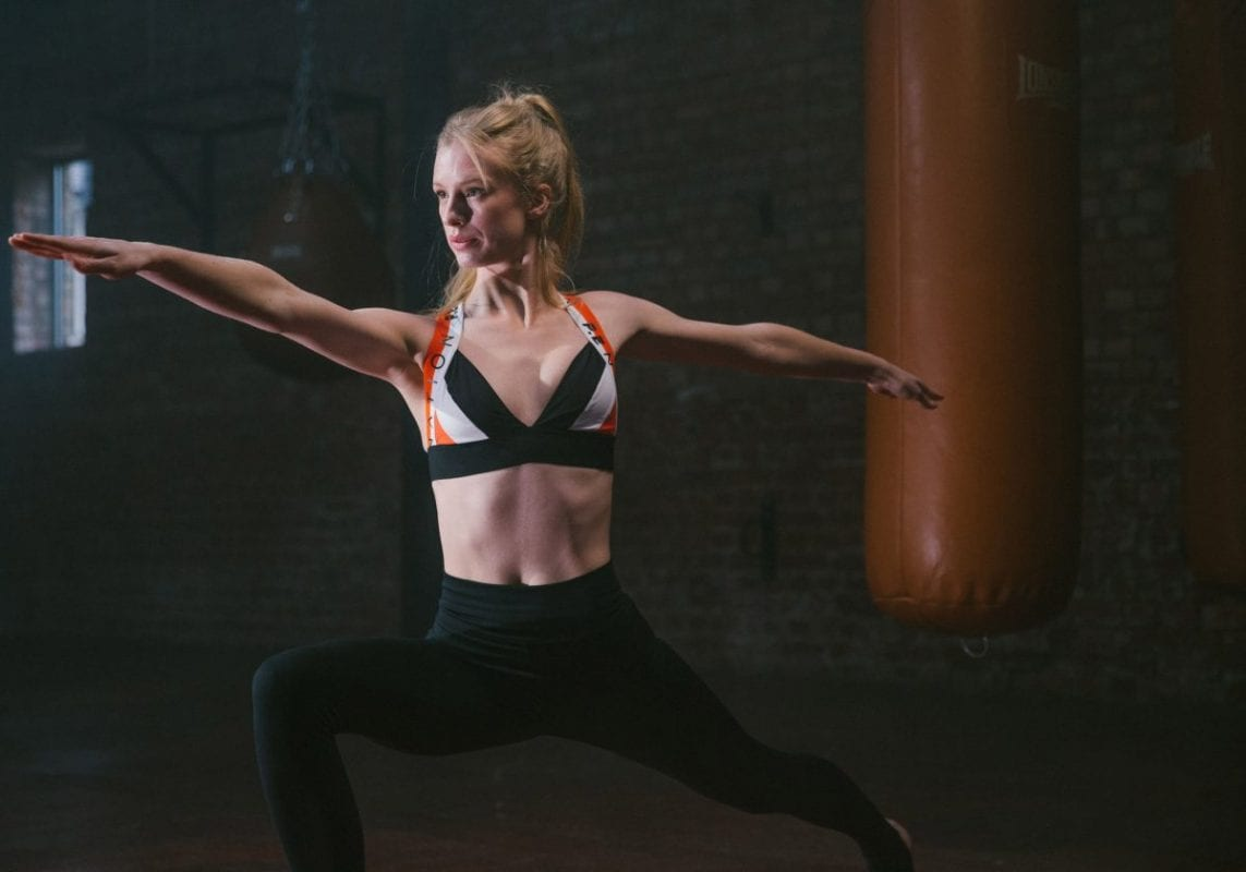 woman in yoga pants
