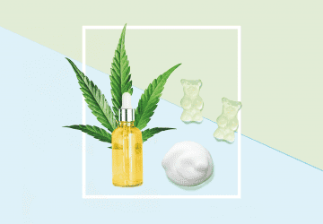 illustration of CBD products