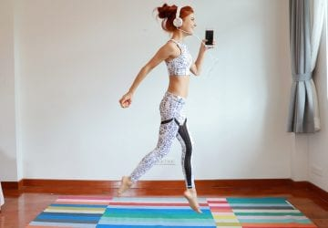 woman doing an indoor workout