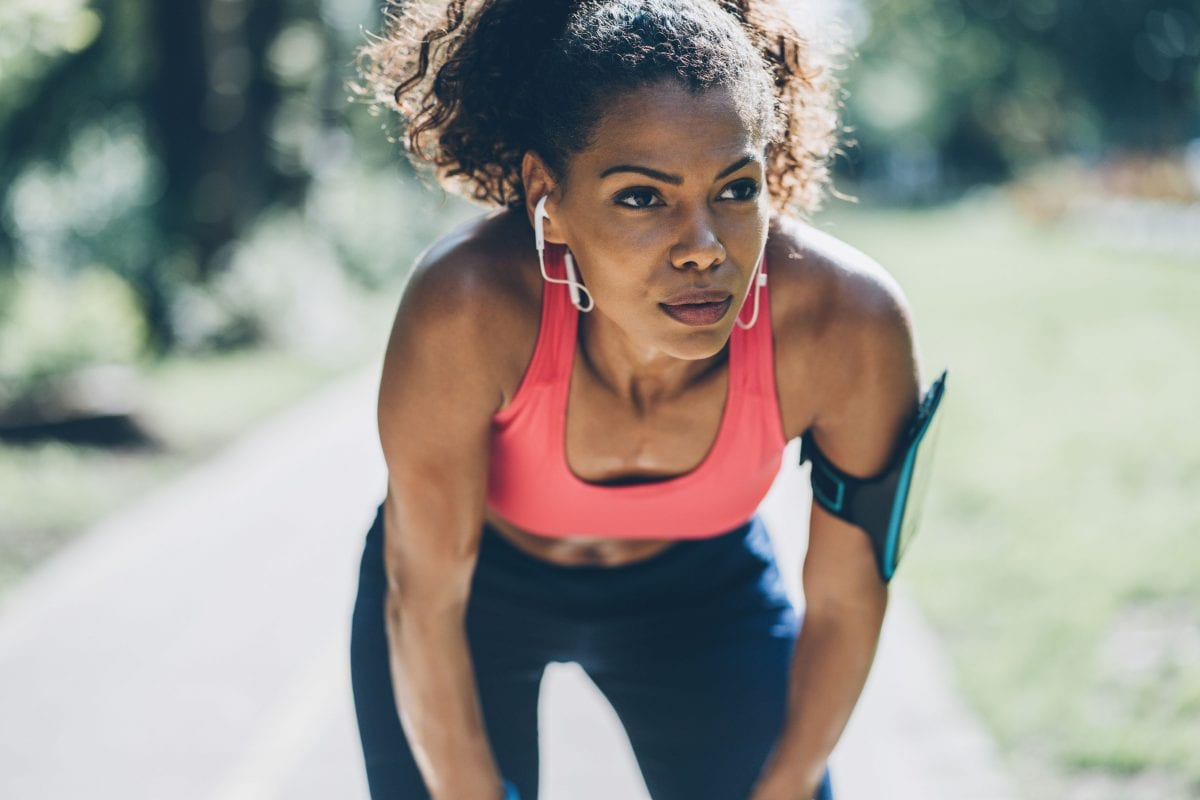 a woman going for a run outdoors