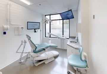 a clean dental office space