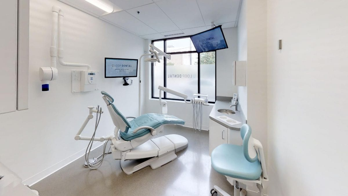 a clean dental office space
