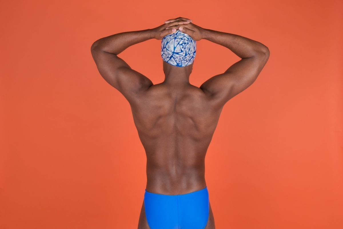 swimmers back profile