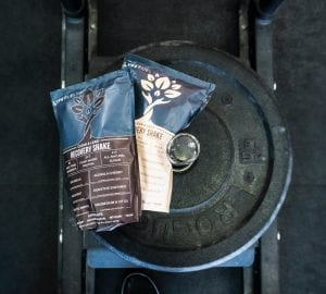 an assortment of protein powders