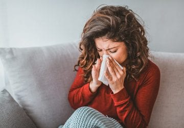 a woman with the flu