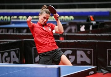 a parolympian playing table tennis