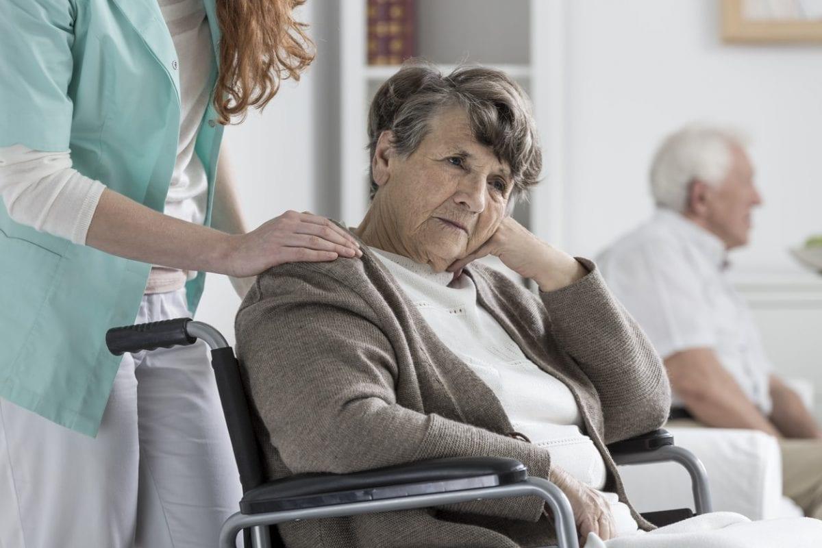 a senior in a nursing home