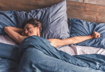 a woman getting a good sleep