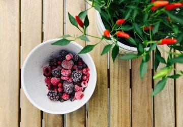 a bowl of fresh berries