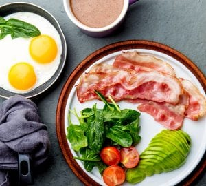 an assortment of keto friendly foods