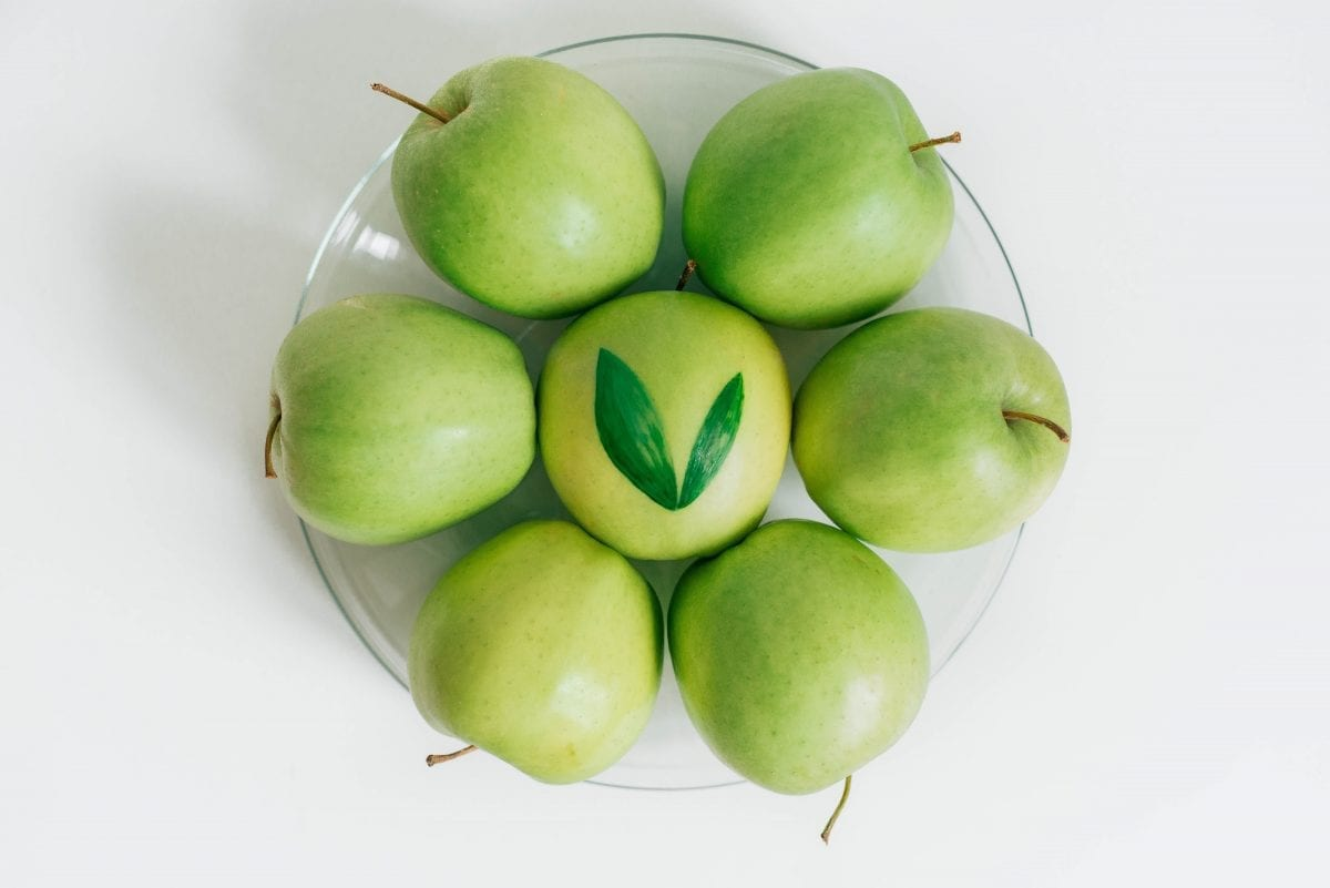 a group of tasty green apples