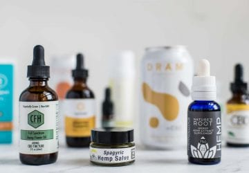 assortment of CBD products
