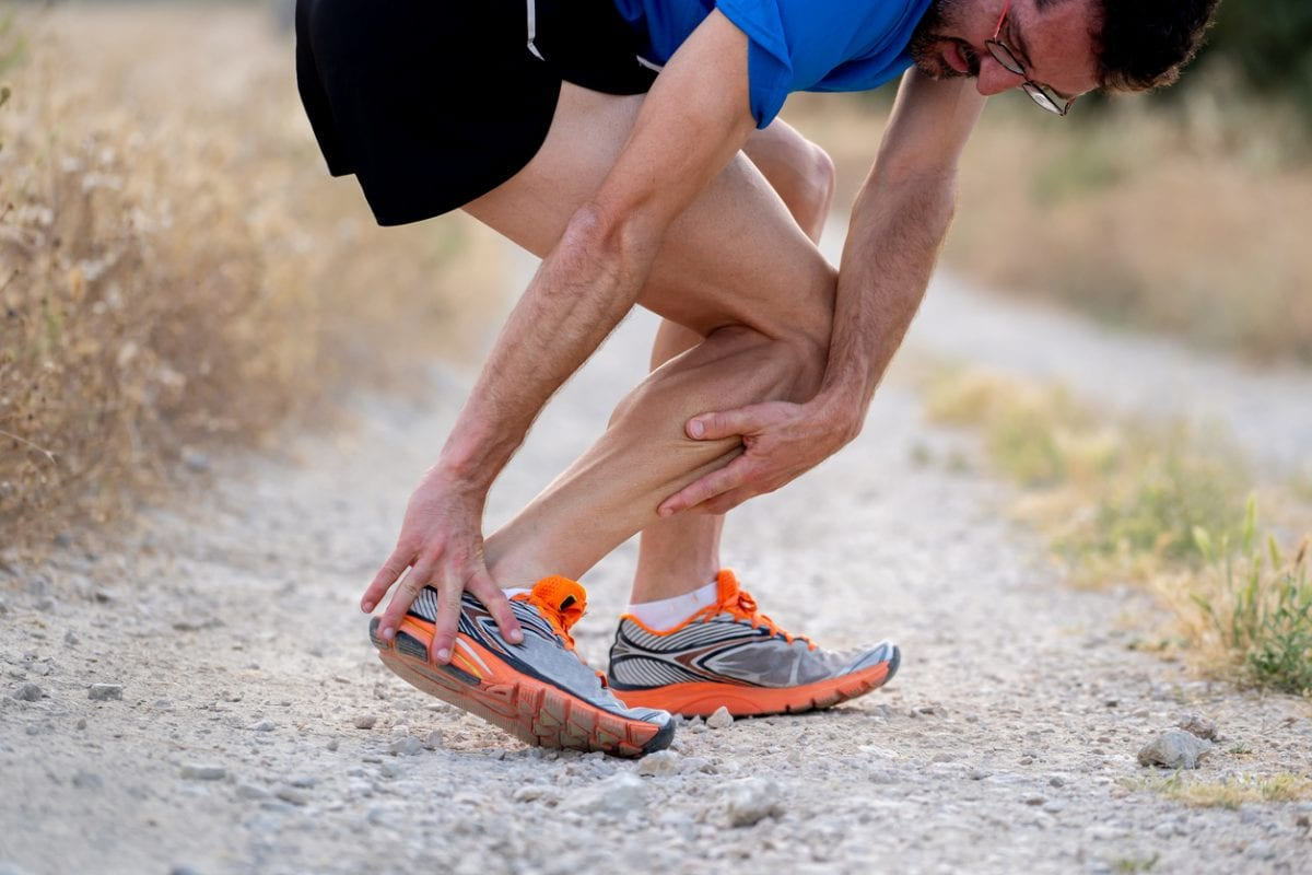 a runner with an injured ankle