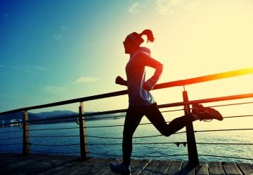 a woman going for a run