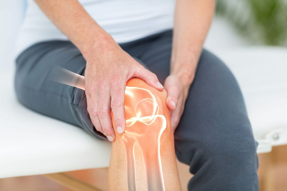 a person with knee pain