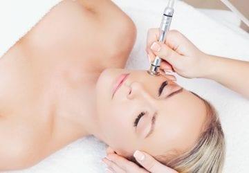 a woman receiving a spa treatment
