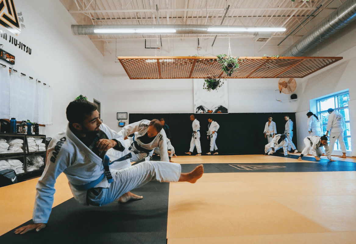 a person doing martial arts