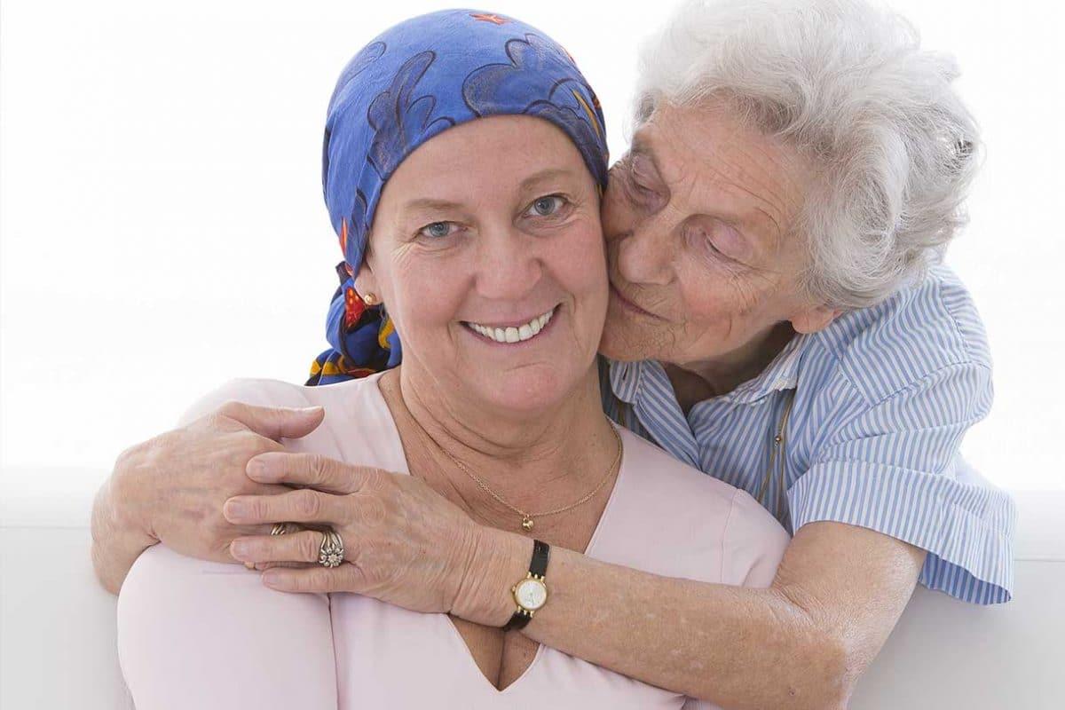 a senior goingn through cancer treatment